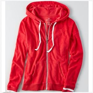 New American Eagle Women's Full Zip Terry Hoodie